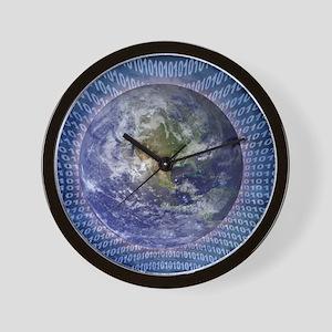Binary World Wall Clock