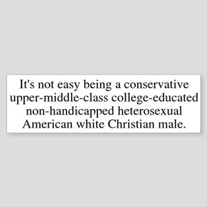 Oppressed Majority Bumper Sticker