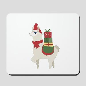 Cute Christmas Llama Mousepad