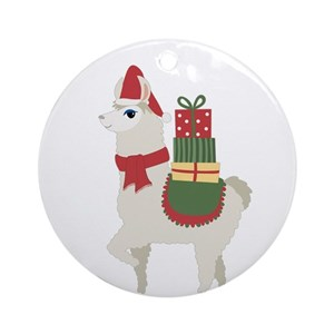 llama christmas ornaments cafepress - Llama Christmas Decoration
