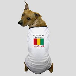 My Guinean Grandpa Loves Me Dog T-Shirt