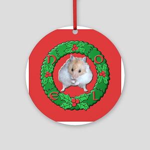 Hamster Noel Wreath Ornament (Round)