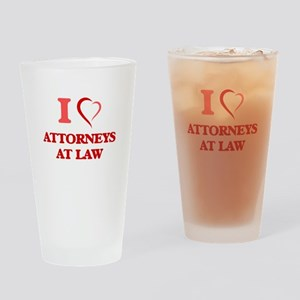 I love Attorneys At Law Drinking Glass