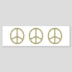 "Mardi Gras ""Peace"" Beads Bumper Sticker"