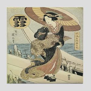 Japanese Woman Tile Coaster