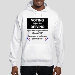 Voting/Driving Hooded Sweatshirt