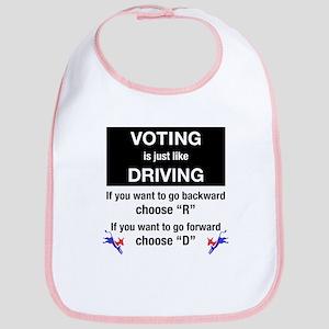 Voting/Driving Bib