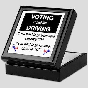 Voting/Driving Keepsake Box