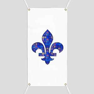 Blue Mosaic Fleur Banner