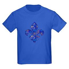 Blue Mosaic Fleur T
