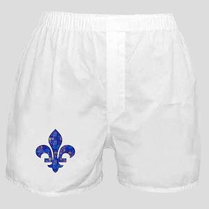 Blue Mosaic Fleur Boxer Shorts