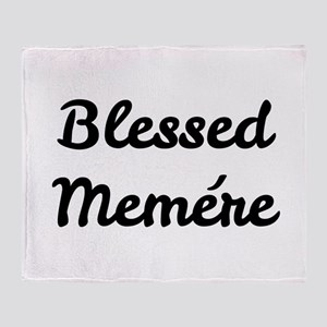 Blessed Memere Throw Blanket