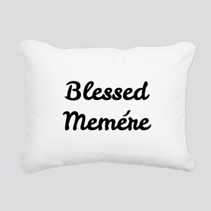 Blessed Memere Rectangular Canvas Pillow