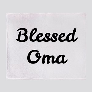 Blessed Oma Throw Blanket