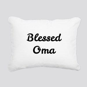 Blessed Oma Rectangular Canvas Pillow