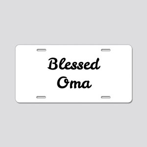 Blessed Oma Aluminum License Plate