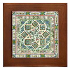 China (Floral) Framed Tile