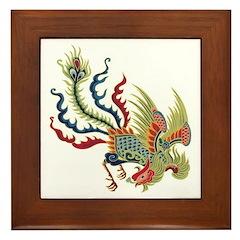 Chinese Phoenix Framed Tile