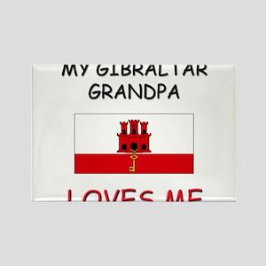 My Gibraltar Grandpa Loves Me Rectangle Magnet