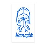 Namasté Girl Rectangle Sticker