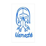 Namasté Girl Rectangle Sticker 50 pk)