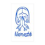 Namasté Girl Rectangle Sticker 10 pk)