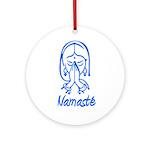 Namasté Girl Ornament (Round)