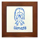 Namasté Girl Framed Tile