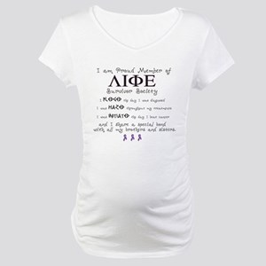 """Meaning of """"Life"""" Maternity T-Shirt"""