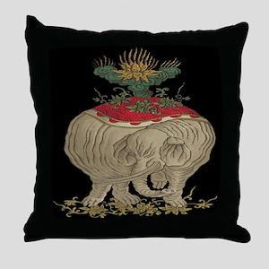 Decorative Asian Elephant Throw Pillow