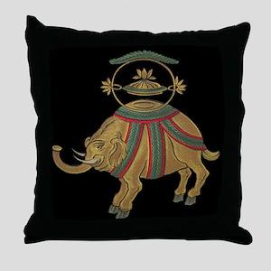Decorative Asian Elephant 2 Throw Pillow