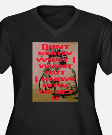 DON'T KNOW WHAT I WANT Women's Plus Size V-Neck Da