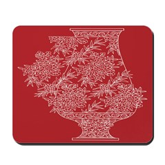 Asian Vase (Red) Mousepad