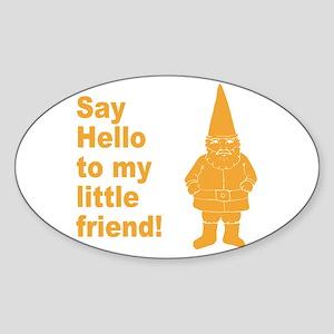 Say Hello Oval Sticker