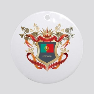 Portuguese flag emblem Ornament (Round)