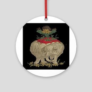 Decorative Asian Elephant Ornament (Round)
