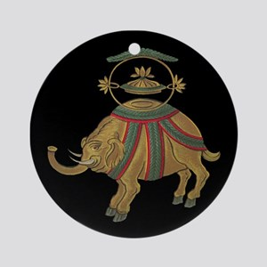 Decorative Asian Elephant 2 Ornament (Round)