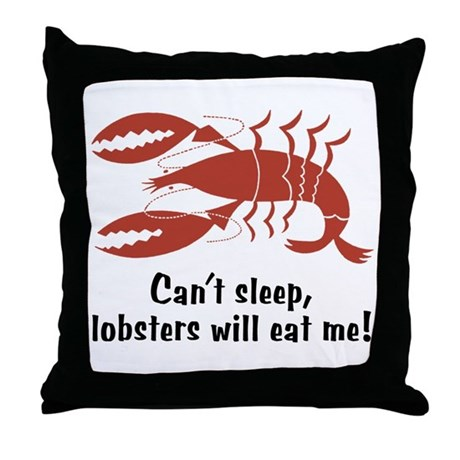 Funny Lobster Throw Pillow