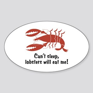 Funny Lobster Oval Sticker