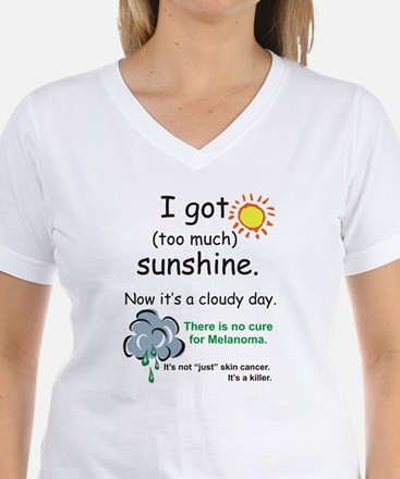 I got too much sunshine Ash Grey T-Shirt