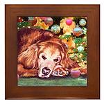 Golden Retriever Christmas Framed Tile