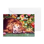 Golden Retriever Christmas Greeting Cards (10 Pk)