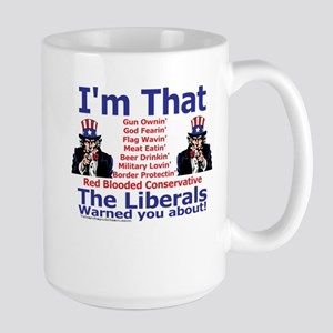 Liberals Warning Large Mug