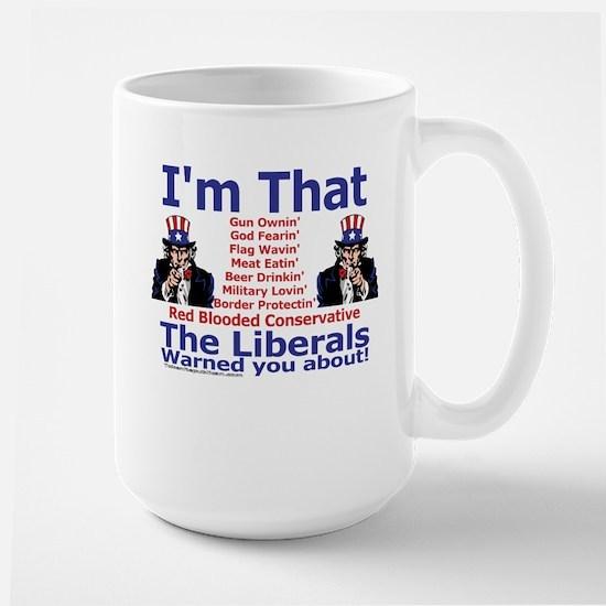 Liberals Warning Large Mug