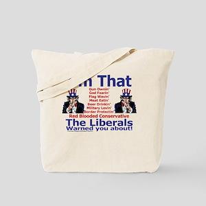 Liberals Warning Tote Bag