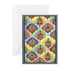 Colourful Blooms Greeting Cards (Pk of 10)