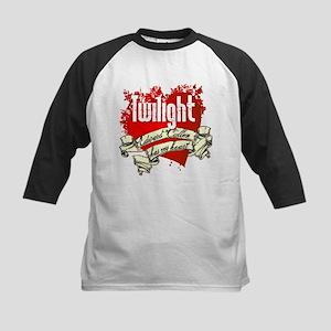 Twilight Tattoo Heart Kids Baseball Jersey