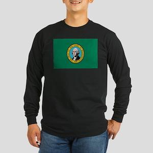 Beloved Washington Flag Moder Long Sleeve Dark T-S