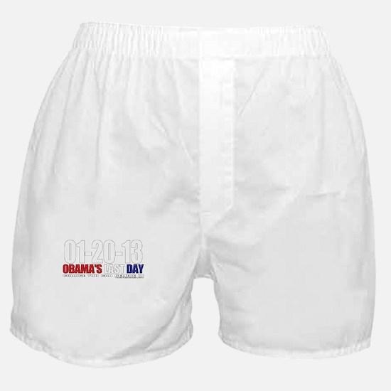 Obama's Last Day! Boxer Shorts