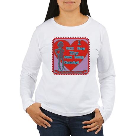 I can buy my own dang candy / women's LS T-Shirt